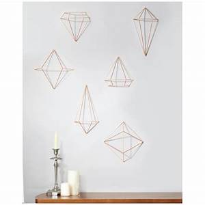 Umbra prisma wall decor copper iwoot