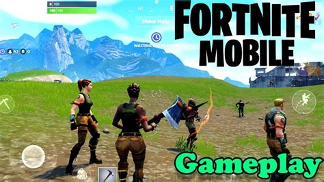 fortnite mobile ios android gameplay official game