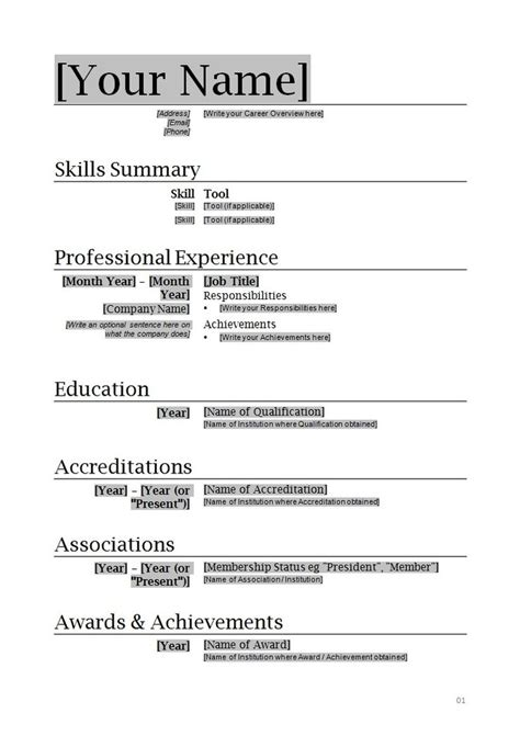 17007 free basic resume template 25 best ideas about acting resume template on