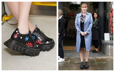 angela rayners flatforms   political message   quirky shoes