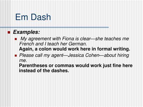 En Dash Vs. Em Dash Powerpoint Presentation