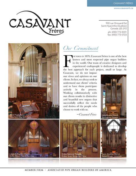 Casavant Frères Associated Pipe Organ Builders Of America