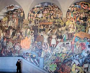 Part Of Diego Rivera's Mural Depicting Mexico's History ...