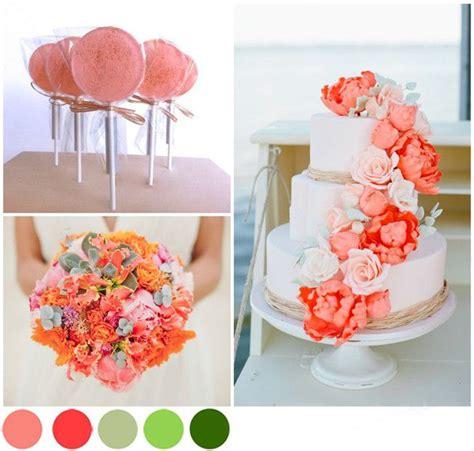 idees deco mariage corail  vert evenements craft