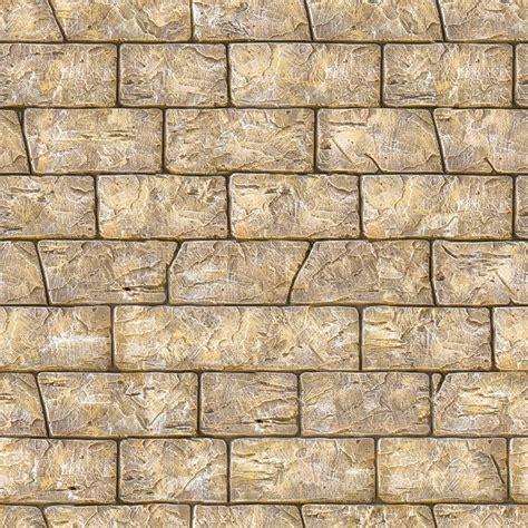 Pietra Floor Tiles seamless texture of brown decorative bricks wall stock