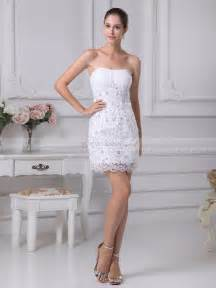 mini wedding dresses beaded applique featured sheath mini wedding dress with lace hem