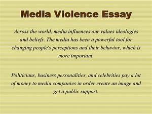 media violence argumentative essay