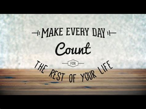 Joseph Prince Make Every Day Count For The Rest Your