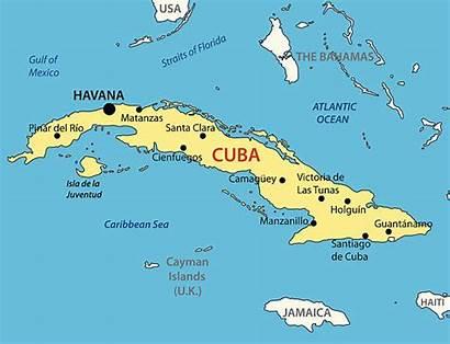 Cuba Map Vector Republic Clip Illustrations Maps
