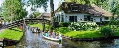 Giethoorn Holland Water Villaggio Olandese Een Nordens