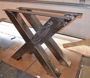 Pied De Table Industriel : pieds de table m tal style industriel x frame n importe ~ Dailycaller-alerts.com Idées de Décoration