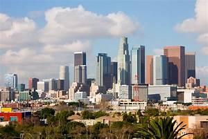 Los Angeles Skyline Wallpaper - WallpaperSafari