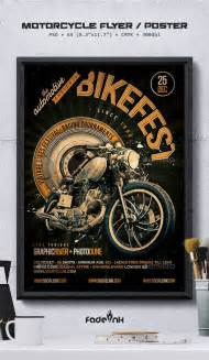 motorcycle flyer poster poster template design flyer