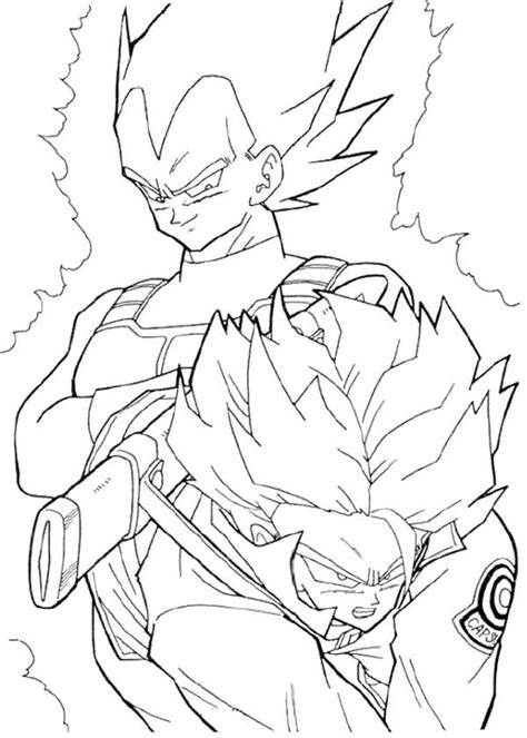 coloring pages  trunks  dbz az coloring pages