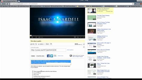 u tub vedio how to make your embed autoplay