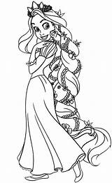 Rapunzel Coloring Pages Hair Printable Tangled Disney Princess Amazing Sheets Colored Colouring Para Kidsplaycolor Frozen Elsa Pintar Colors Printables Many sketch template