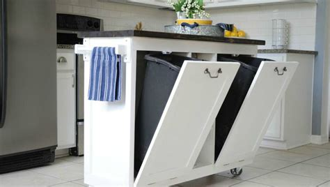kitchen island with garbage bin 10 hacks for your kitchen island