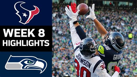 texans  seahawks nfl week  game highlights youtube