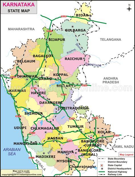 karnataka map mapas map state map  karnataka