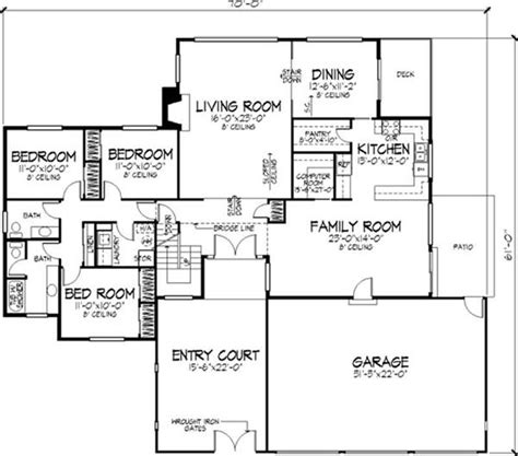 modern home floor plans small modern house plans one floor 2016 cottage house plans