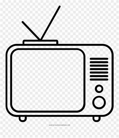 Coloring Television Clipart Ultra Colouring Printable Pinclipart