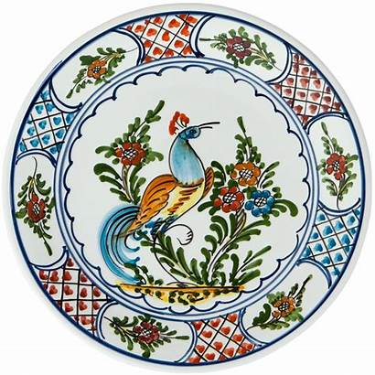Painted Hand Peacock Plates Plate Ceramic Dinner