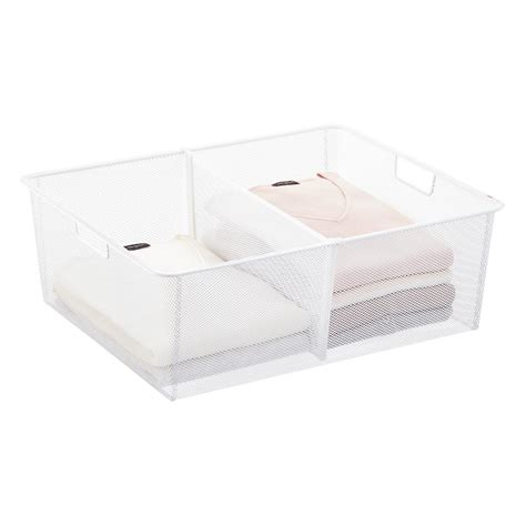 white elfa mesh drawer dividers the container store