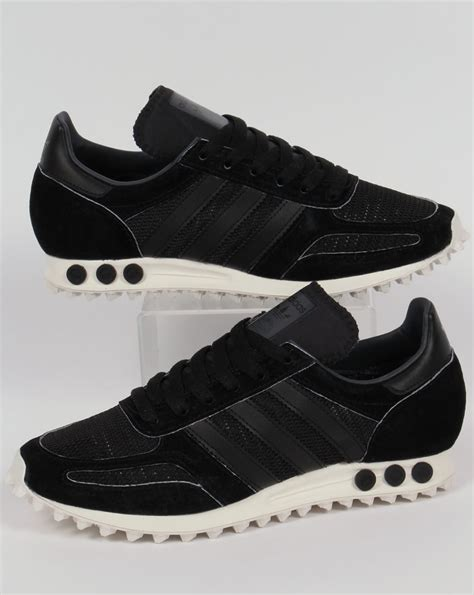 adidas la trainer og trainers black black grey shoes