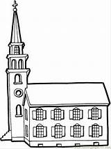 Coloring Church Pages Building Buildings Printable Tower Colouring Little Clipart Tall Colour Print Library Cliparts Template 3d Adult Clip Coloringpages101 sketch template