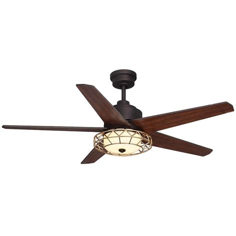 bronze ceiling fan with light and remote home decorators collection ellard 52 in led indoor oil