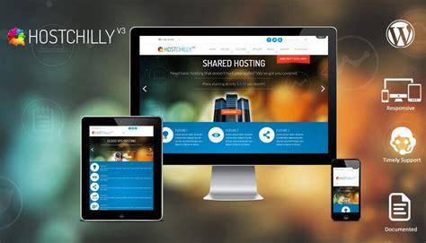hostchillyv wordpress hosting theme web hosting themes