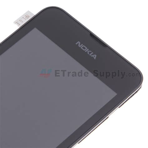 nokia lumia 530 lcd and digitizer assembly with front housing etrade supply