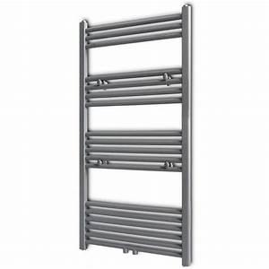 vidaxlcouk grey bathroom central heating towel rail With central heating towel rails bathrooms