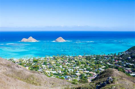 Mokulua Islands, Oahu Stock Photo. Image Of Green