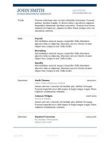 resume template in word free 50 free microsoft word resume templates for download