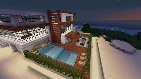 modern beachfront house schematic minecraft map