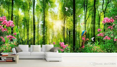 wallpaper custom photo trees green landscape nature