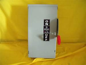 1564 Ge Disconnect 60 Amp 240 V Surplus New 3 Pole