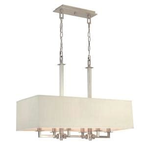 home depot kitchen island lighting hton bay menlo park 6 light brushed nickel kitchen 7118