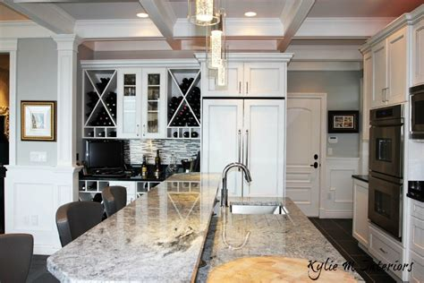 white cabinets and white appliances kitchen ideas decorating with white appliances painted 120 | Island with raised bar top. Wine station and fridge with white doors on the front. Beautiful traditional yet modern feeling kitchen 1024x683