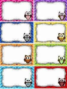 Name tags blank labels owls and chevron theme free for Locker tag templates