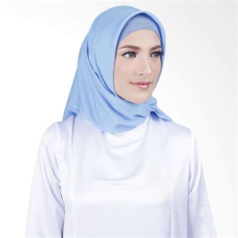 square kerudung segiempat jual cantik kerudung misha square voal shawl sky