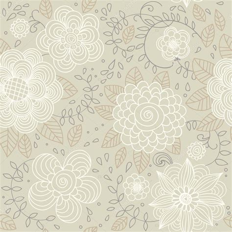 Floral vintage seamless pattern for retro wallpapers ...