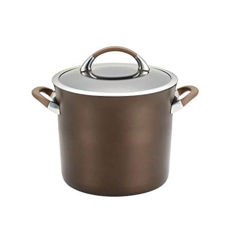 circulon chocolate cookware anodized hard symmetry piece nonstick pans pots
