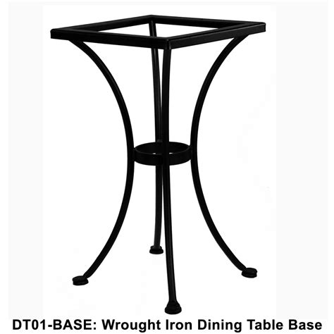 ow standard wrought iron bistro dining table base