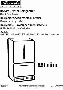 Kenmore 59673502200 User Manual Refrigerator Manuals And