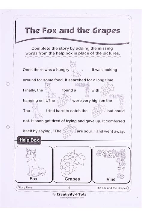 Rebus Reading Or Storytelling Worksheet  This Worksheet Is Designed To Teach The Child The