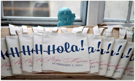 Hola Welcome Bag Wedding Welcome Tote Bag Wedding Tote