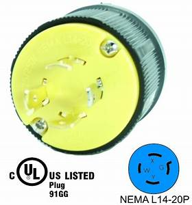 Nema L14 250v Locking Male Receptacle Plug