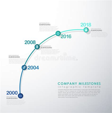 Startup Milestone Template by Infographic Startup Milestones Timeline Vector Template